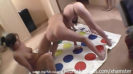 naked girls playing twister game looking like gymnasts