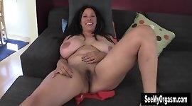 Huge Titted Shannon Finger Her Dark Beaver