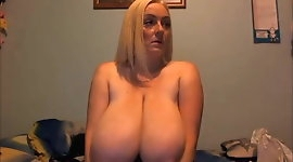 34K Hot Blonde Great Cleavage Huge Udders