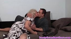 Alluring gilf screwed by her young lover