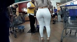 Married Latina perfect body white jeans