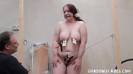 Bizarre fat slave punishment and homemade tools bdsm