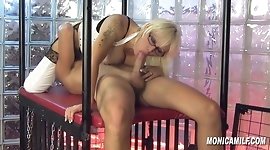 MonicaMilf gets fucked by her sub - Norsk Porno