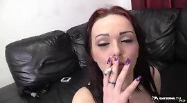 Jasmine James gives smokey blowjob