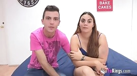 Jesus and Lorena in their very first porn scene