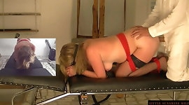 Bound Spanking Torture Session with the Little Sunshine MILF